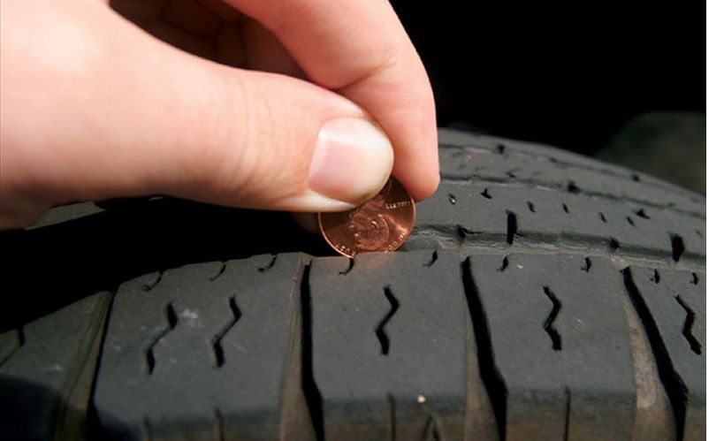 Tread wear coin check