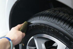 Apply some dressing onto tyres