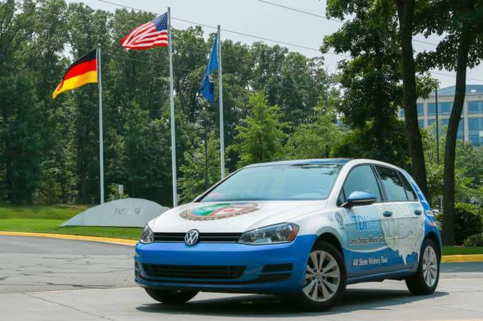 Goodyear fitted VW Golf TDI sets world record