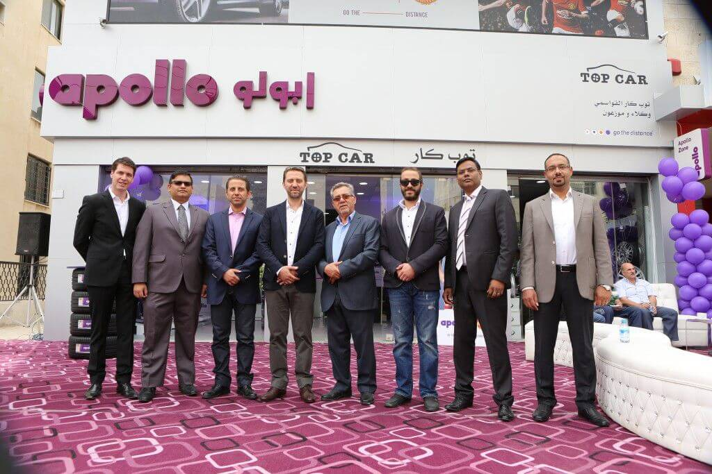 Apollo Tyres opens two retail outlets in Jordan