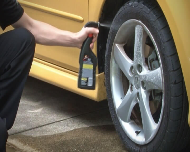 Excessive use of tyre cleaners can speed up tyre cracking