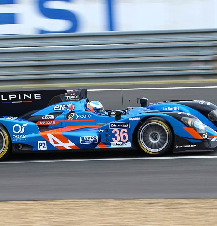 Signatech Alpine won in the LMP2 class of the 24 Hours of Le Mans.