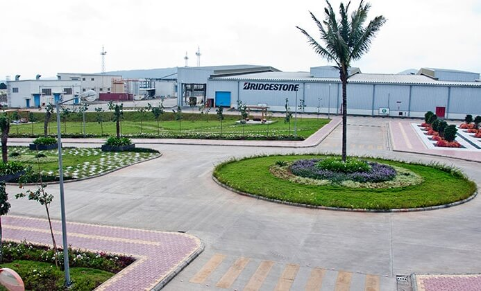 Bridgestone's tyre making plant in Chakan